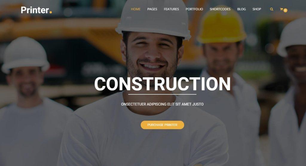 шаблоны Joomla строительная компания с блогом и магазином 4