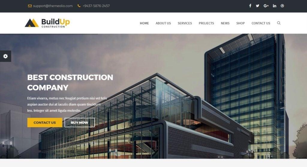 шаблоны Joomla строительная компания с блогом и магазином 6