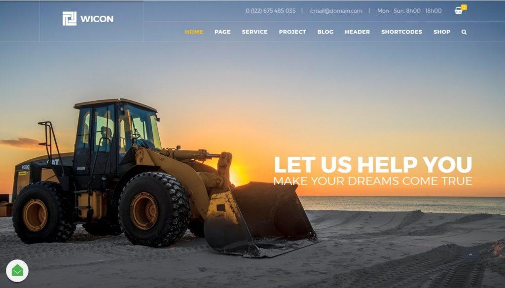 шаблоны Joomla строительная компания с блогом и магазином 8