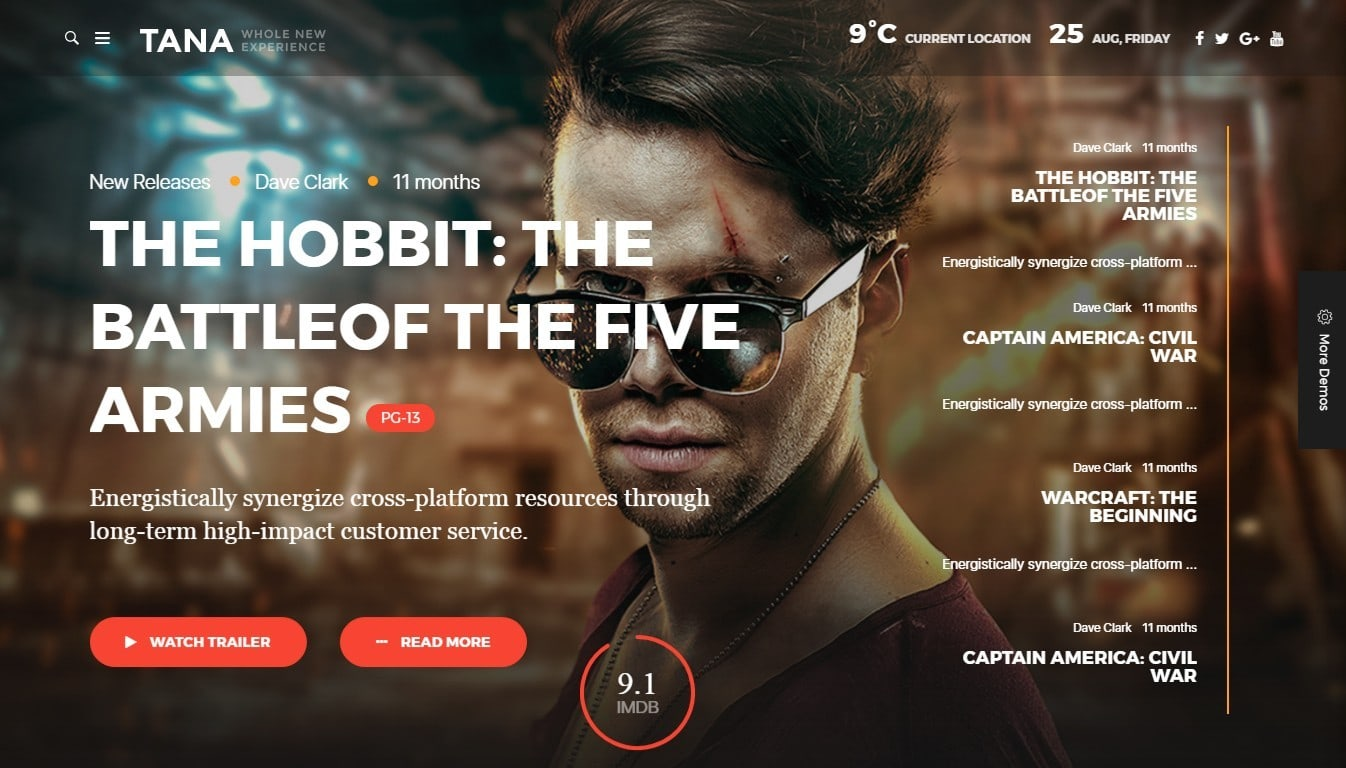 Шаблоны WordPress для онлайн кинотеатра с онлайн-бронированием