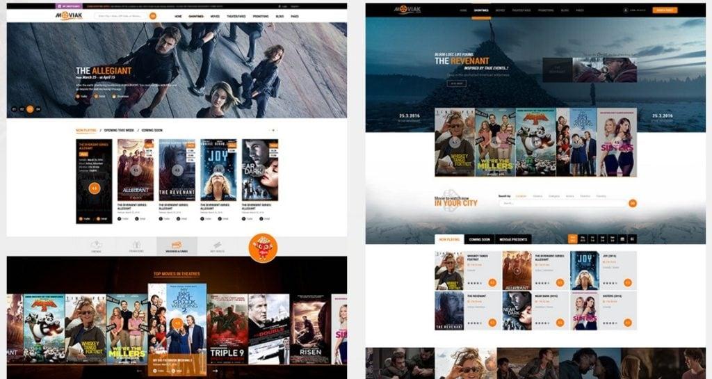 шаблоны WordPress для онлайн кинотеатра с бронированием и интеграцией IMDb 2