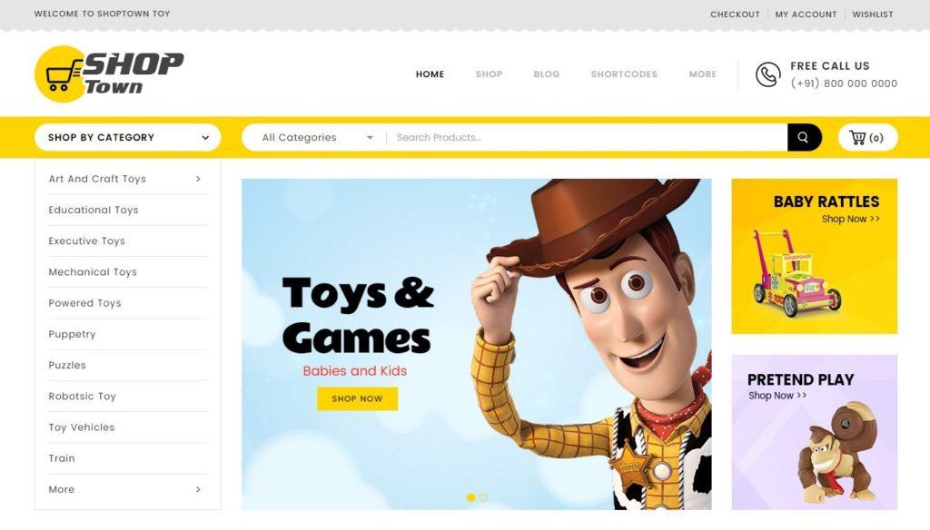 шаблон интернет магазина игрушек: быстрый старт в сфере eCommerce 2