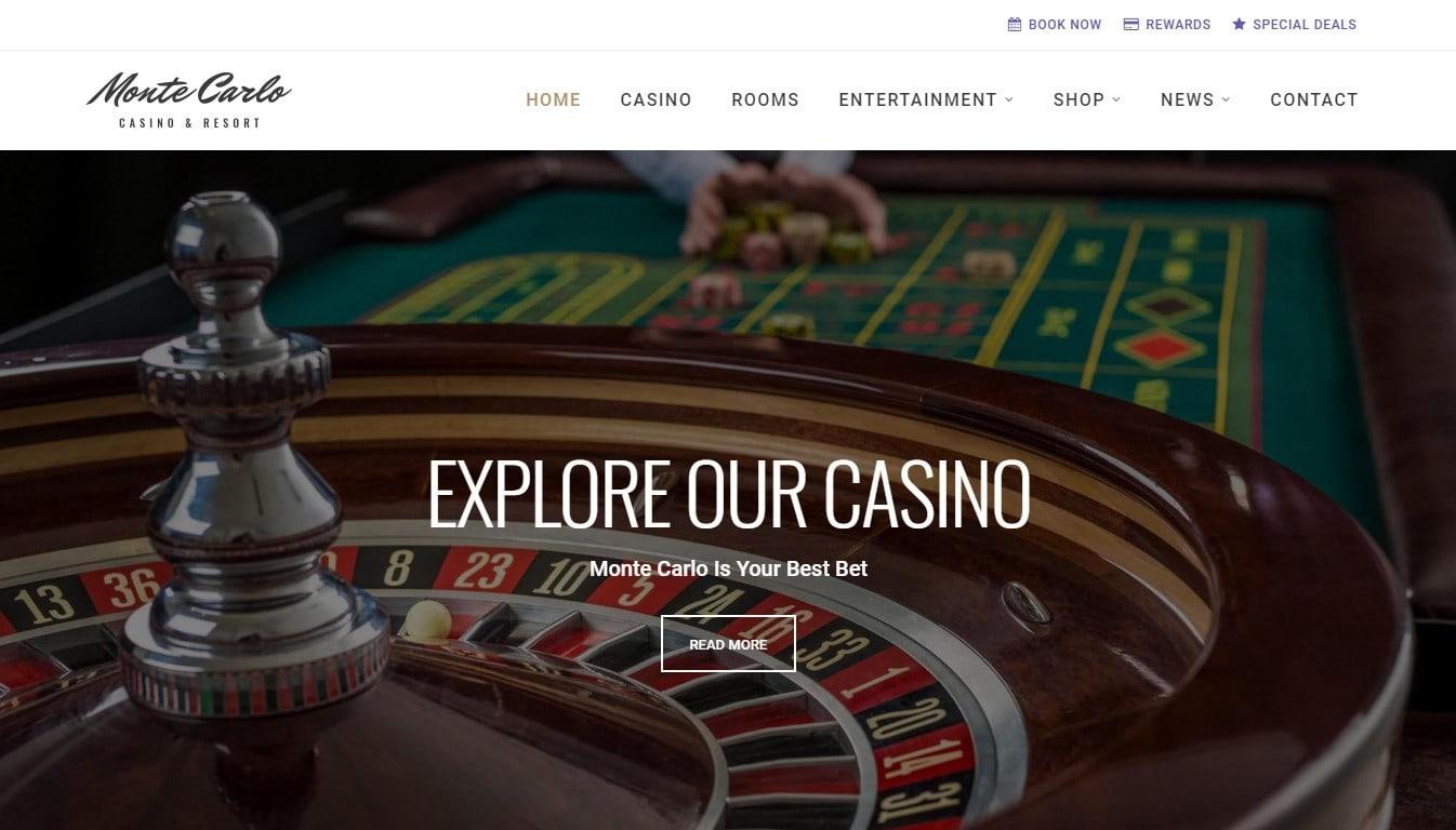 Шаблон сайта казино с платежным функционалом