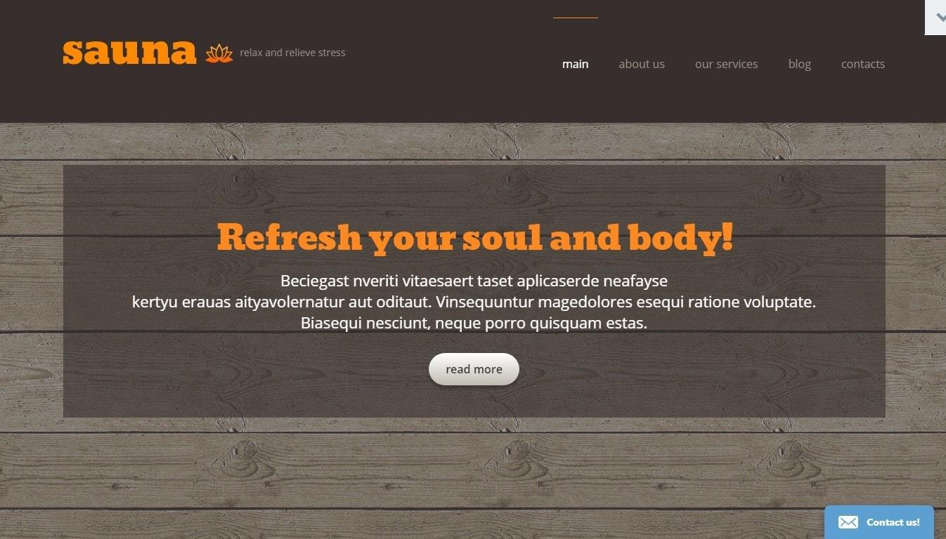 Шаблон сайта сауны с возможностью бронирования и оплаты онлайн