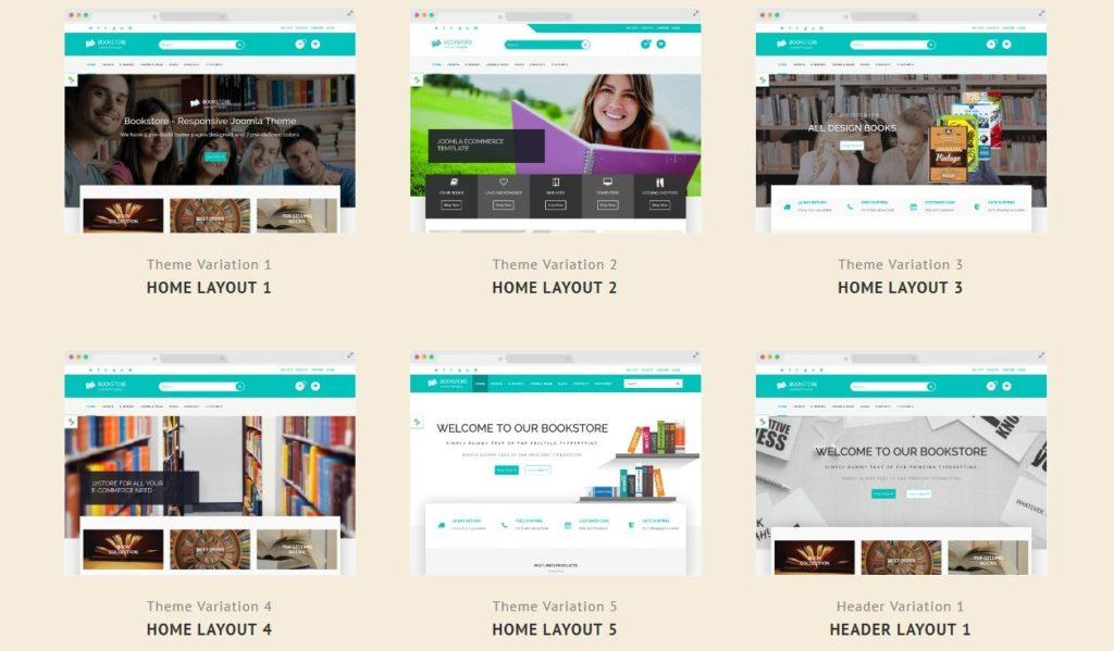 Joomla шаблон книги: готовый сайт с поддержкой магазина 1