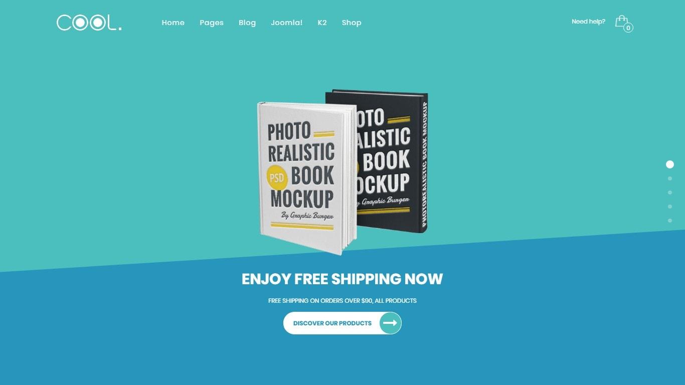 Joomla шаблон книги: готовый сайт с поддержкой магазина