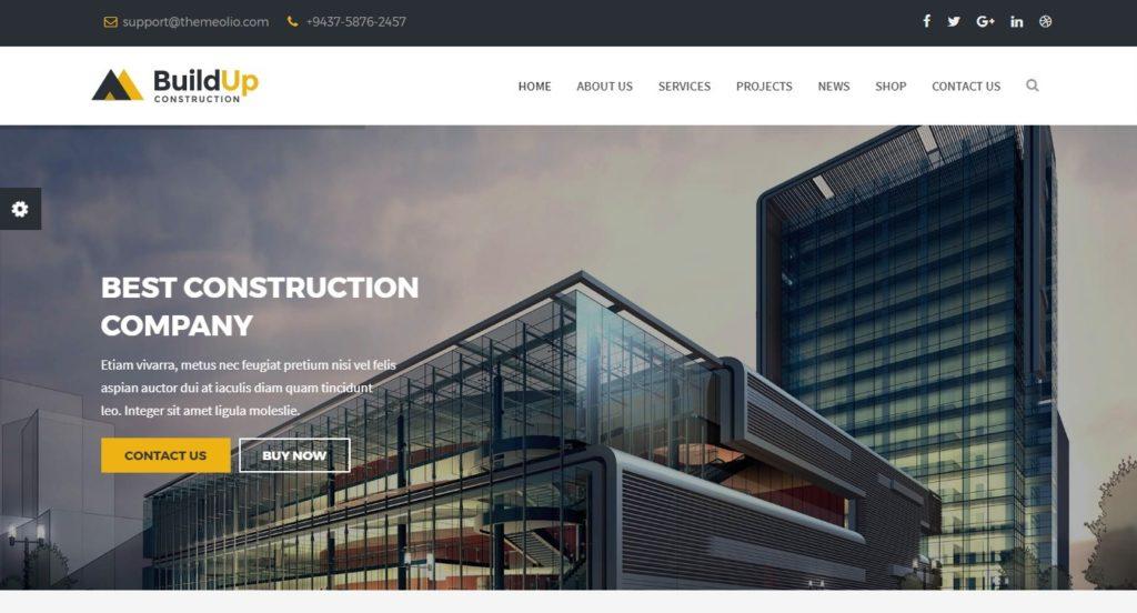 Joomla шаблон сайта строительной компании пространство для создания сайтов