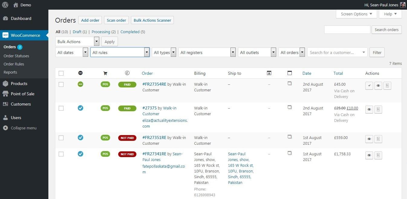 WooCommerce заказы: простое оформление, обработка и управление 08