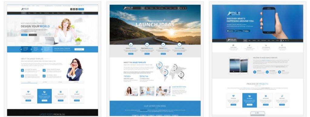 адаптивные шаблоны Joomla для бизнеса, блога, журнала и магазина 4