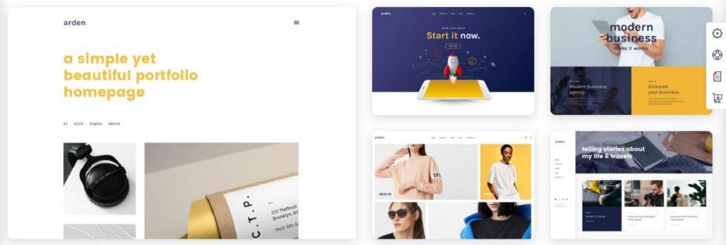 красивые шаблоны сайтов: готовый блог, портфолио, магазин или лендинг 01