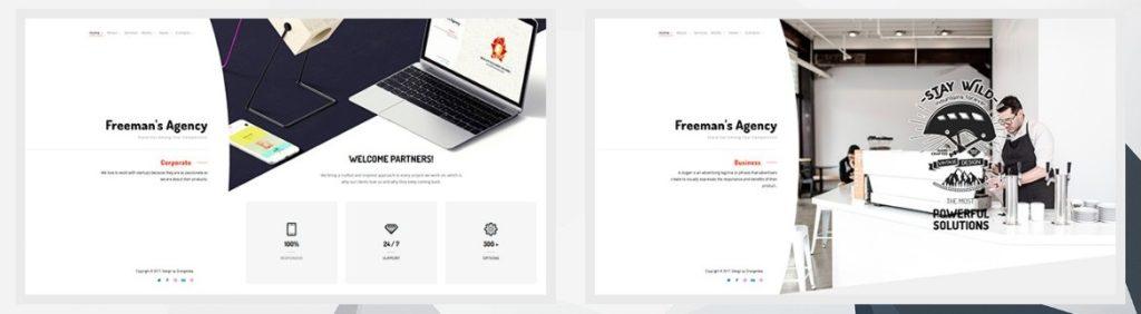 красивые шаблоны сайтов: готовый блог, портфолио, магазин или лендинг 02