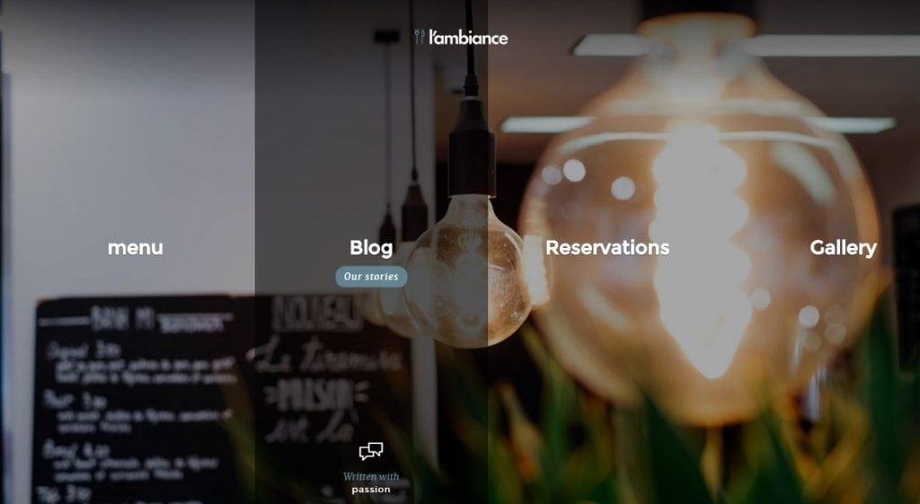 красивые шаблоны сайтов: готовый блог, портфолио, магазин или лендинг 07