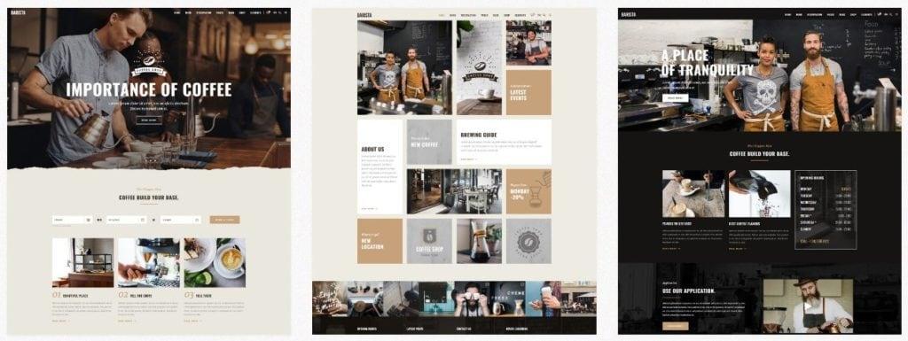 красивые шаблоны сайтов: готовый блог, портфолио, магазин или лендинг 08