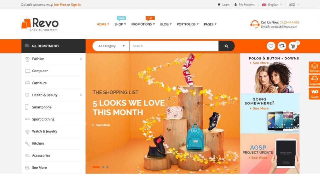 шаблоны интернет магазинов WordPress WooCommerce 2018 07