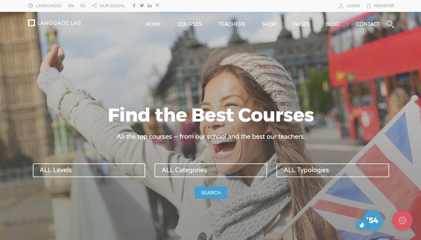 Шаблоны сайта языковой школы с онлайн-записью и оплатой