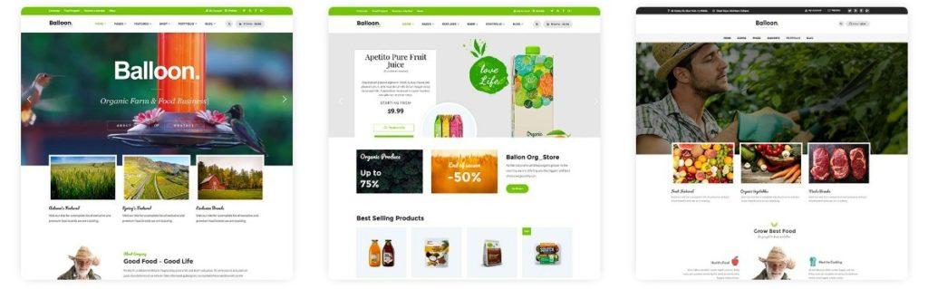 шаблон для магазина продуктов питания с ярким отзывчивым дизайном 6