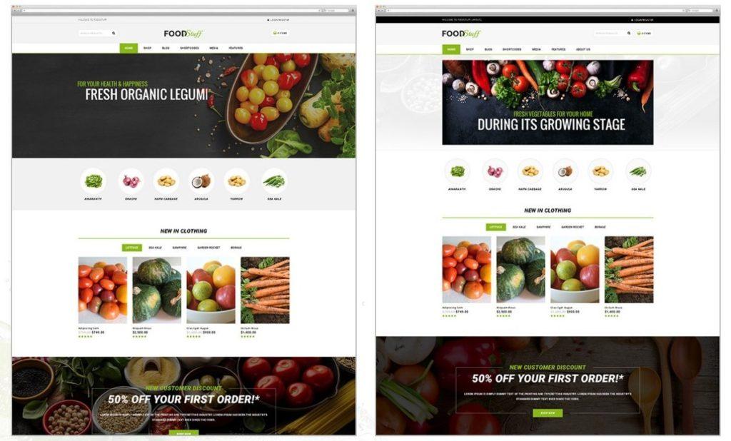 шаблон для магазина продуктов питания с ярким отзывчивым дизайном 7