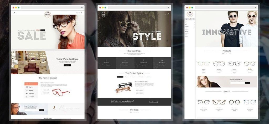 шаблон интернет магазина очков со стильным каталогом и Ajax-функциями 5