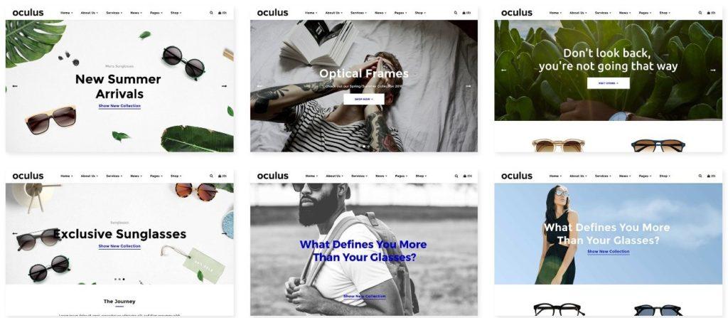 шаблон интернет магазина очков со стильным каталогом и Ajax-функциями 6