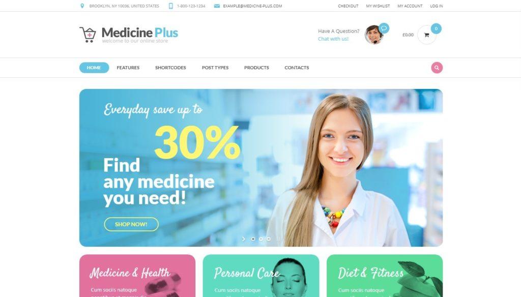 шаблон сайта аптеки с продажей лекарств онлайн 2