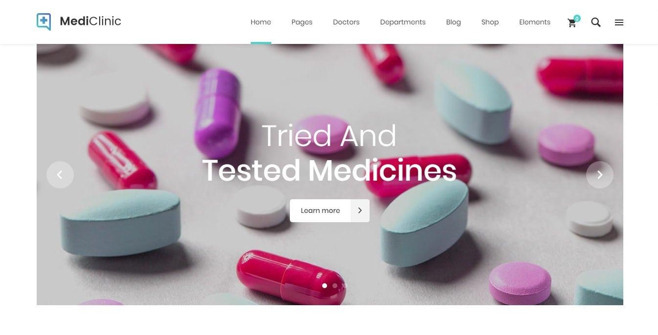 Шаблон сайта аптеки с продажей лекарств онлайн