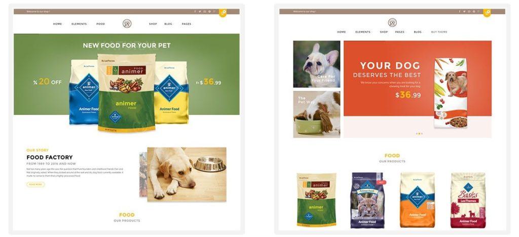 шаблон сайта животные с функцией сбора средств и магазином 03