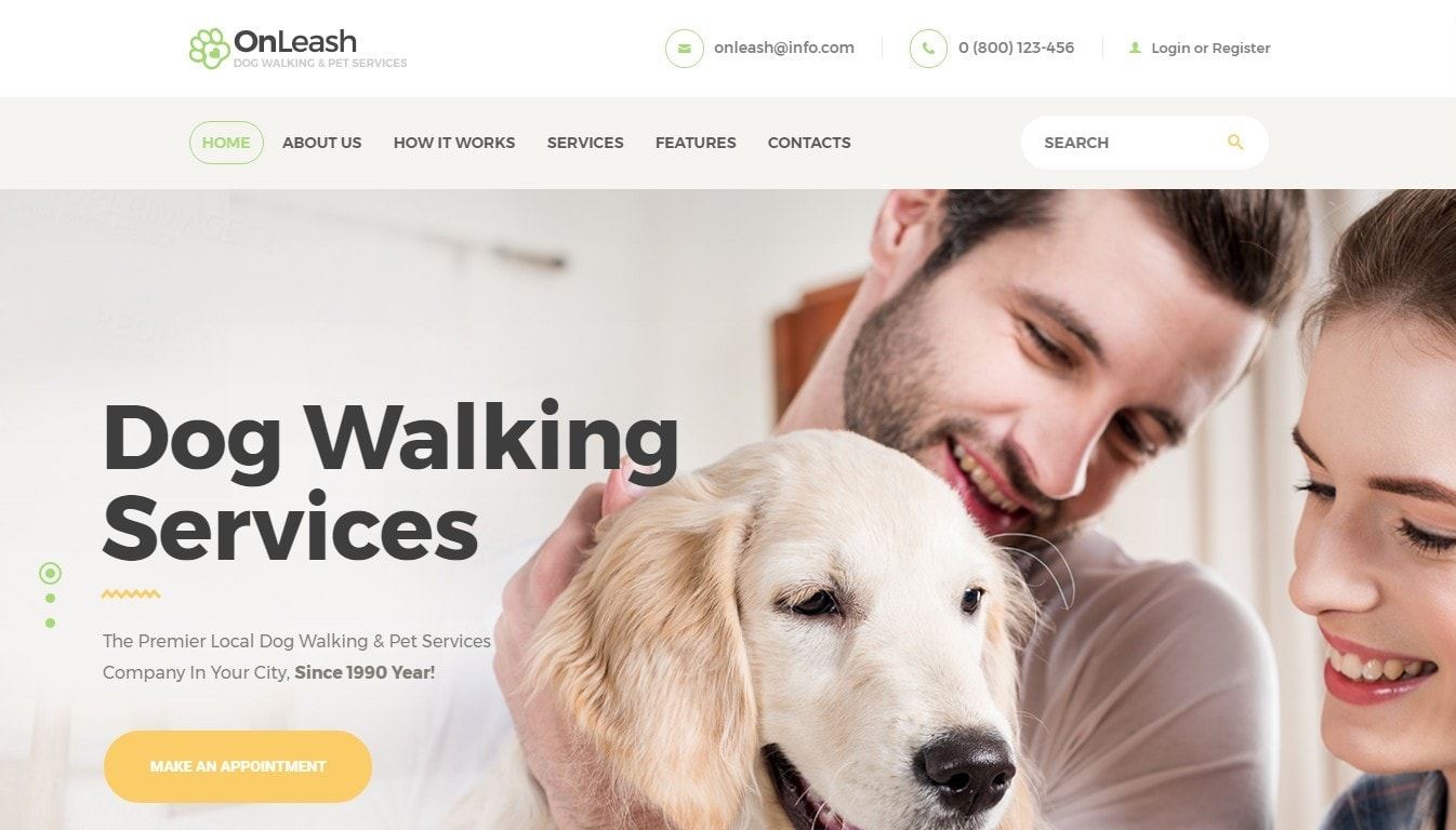 Шаблон сайта животные с функцией сбора средств и магазином