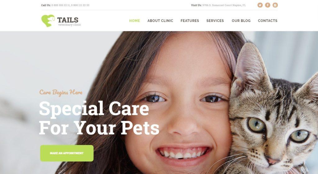 шаблон сайта животные с функцией сбора средств и магазином 08