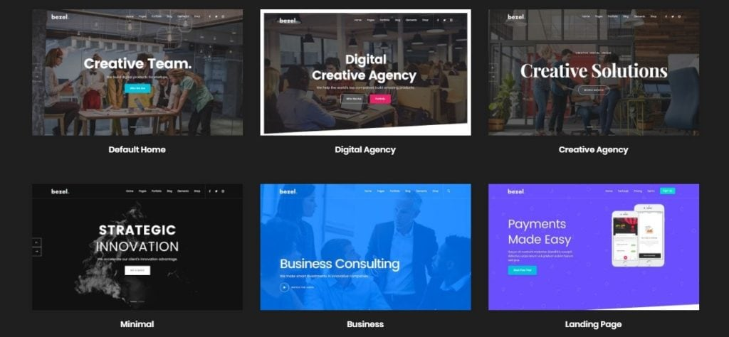 готовые верстки сайта для бизнеса, творчества, развлечений и торговли 02
