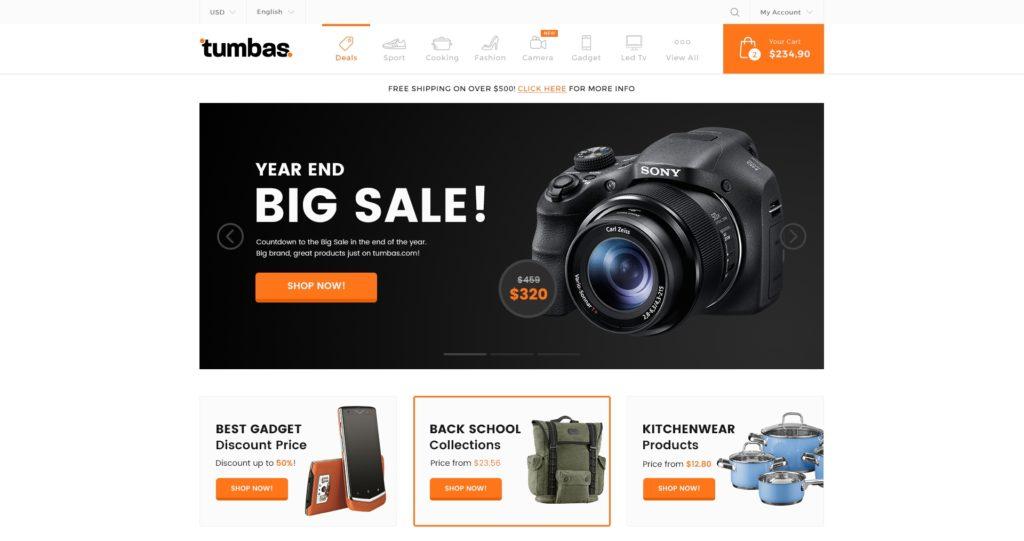 лучшие PSD макеты интернет магазинов для верстки 02