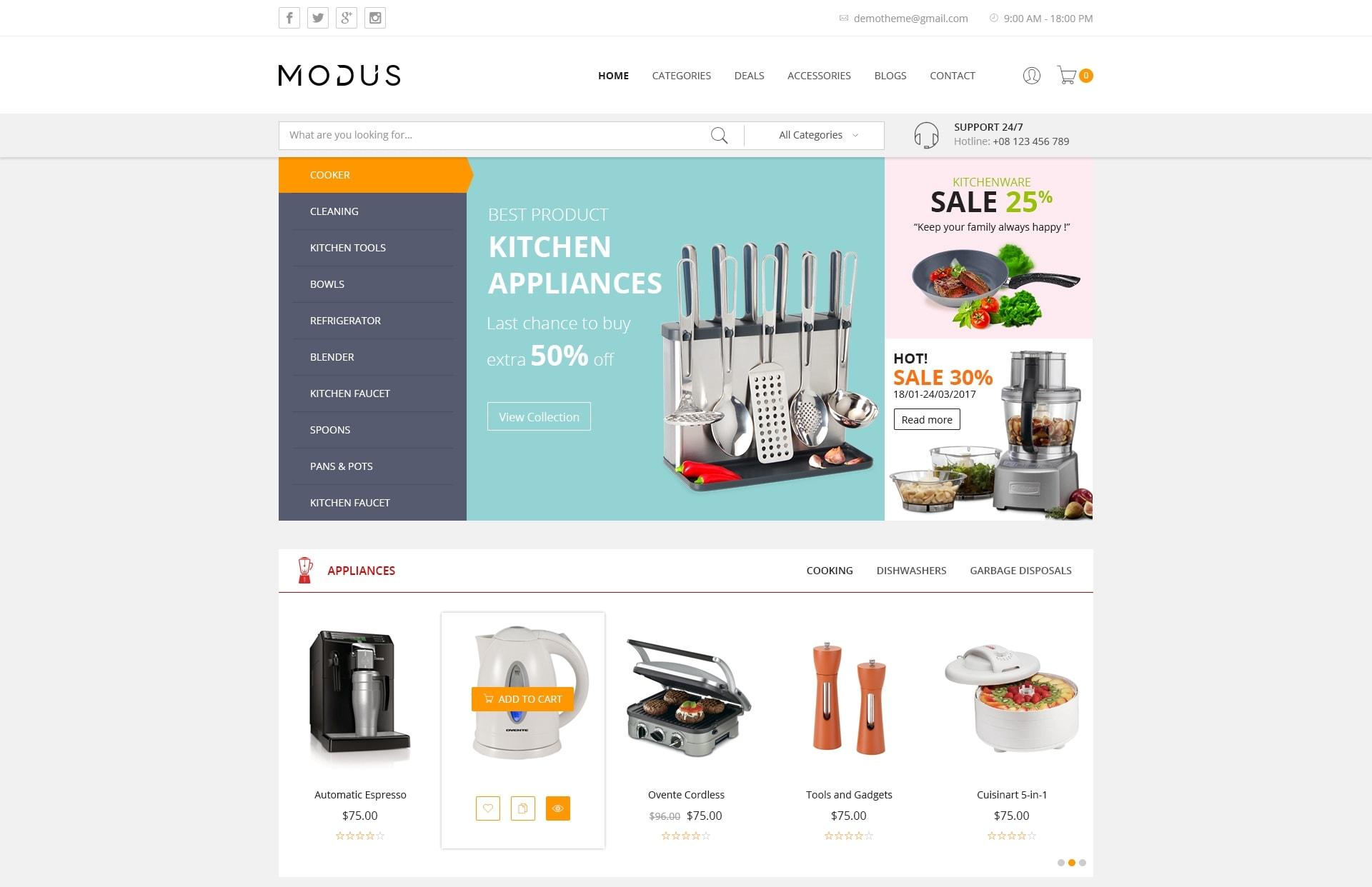 Лучшие PSD макеты интернет магазинов для верстки