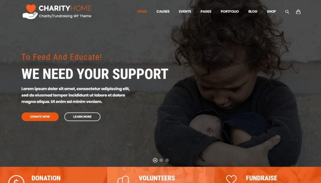 шаблоны сайтов организации для бизнеса и благотворительности 09