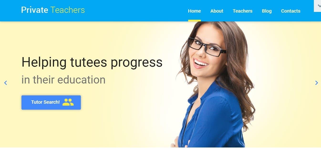 Шаблон сайта для учителя с календарем и онлайн-оплатой