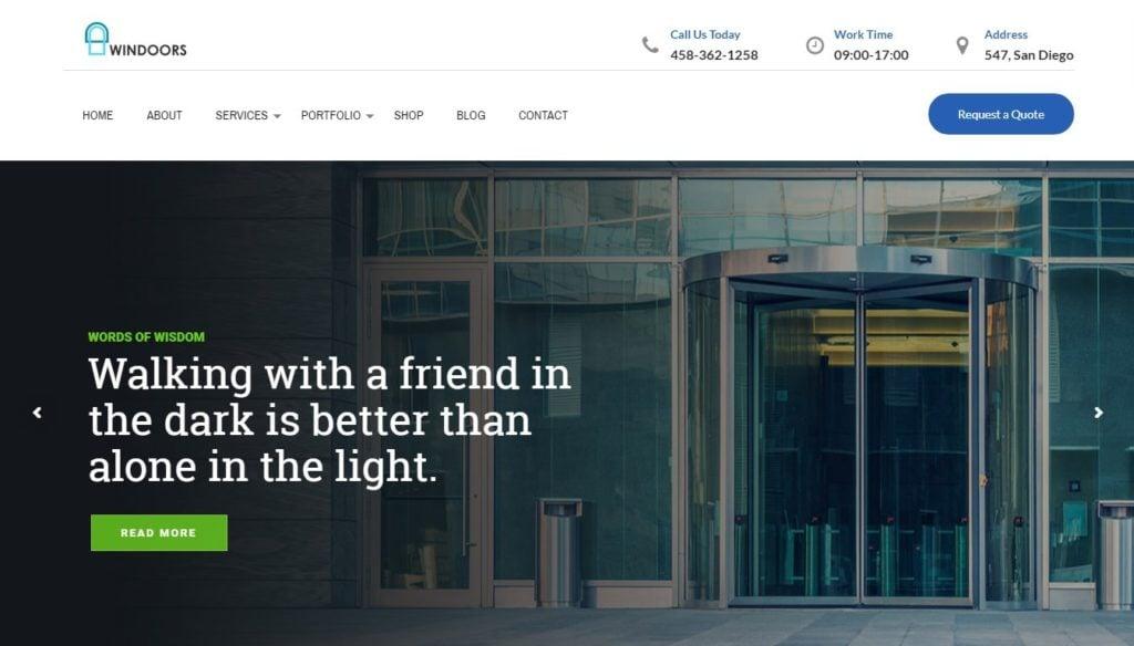 шаблон сайта окна с премиум дизайном и онлайн-оплатой 1
