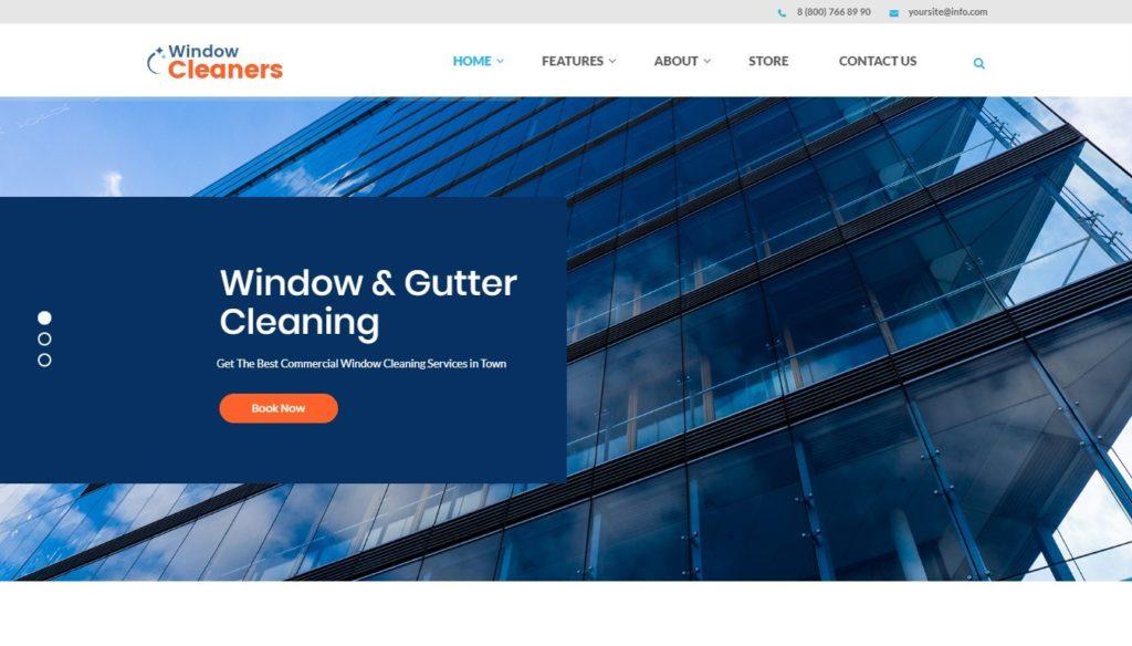 шаблон сайта окна с премиум дизайном и онлайн-оплатой 2