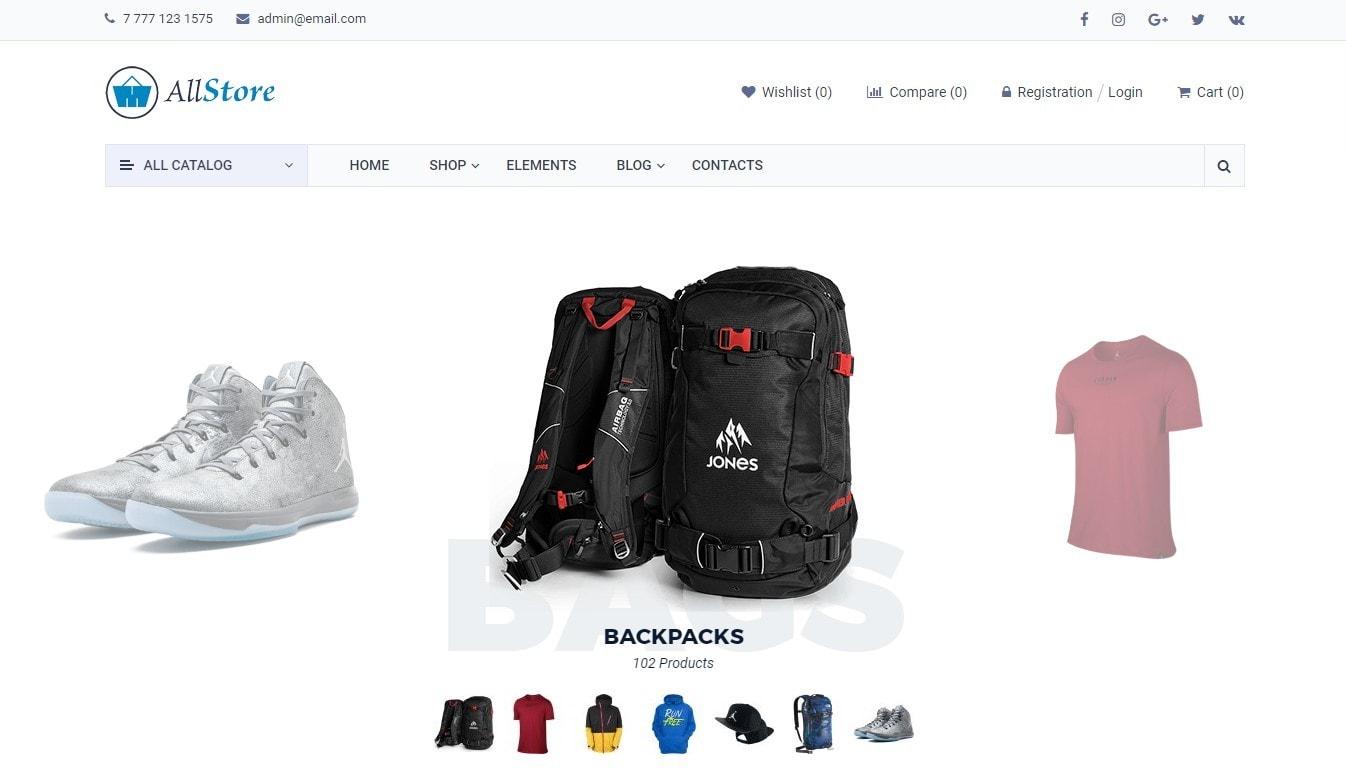 Шаблон сайта товаров с быстрым поиском и безопасной оплатой