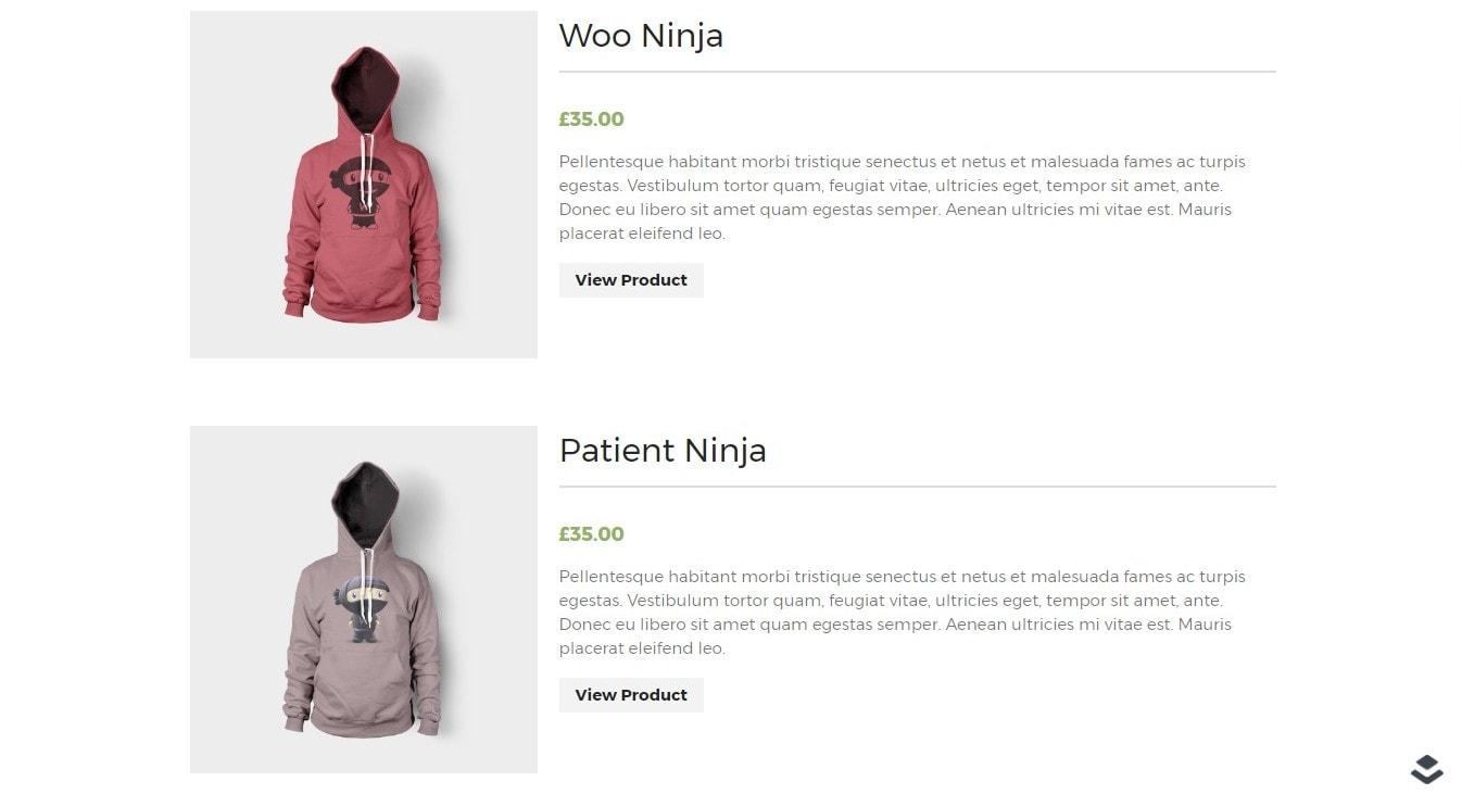 WooCommerce товар списком: красивое оформление ассортимента
