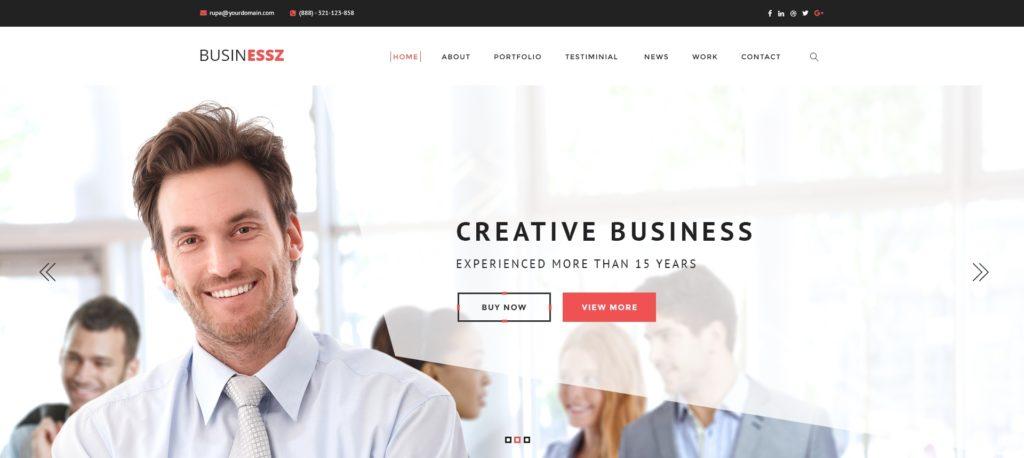 красивый макет сайта для привлечения посетителей 06
