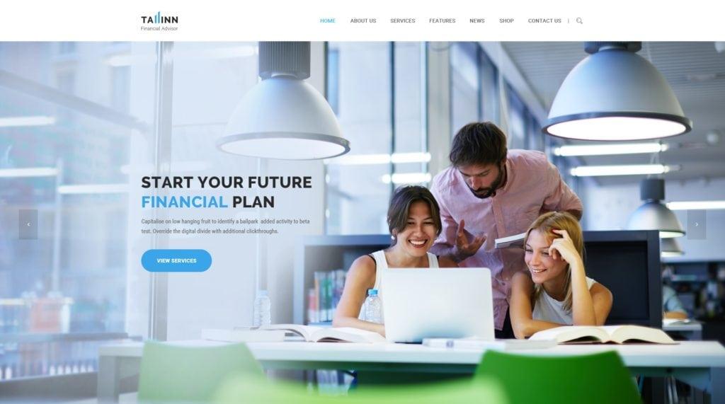 красивый макет сайта для привлечения посетителей 07