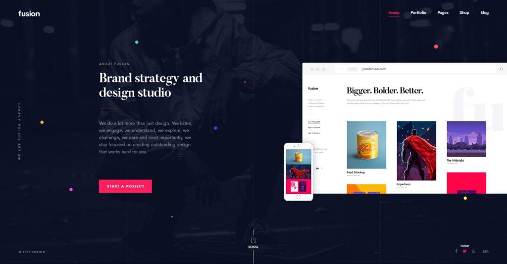 красивый макет сайта для привлечения посетителей 10