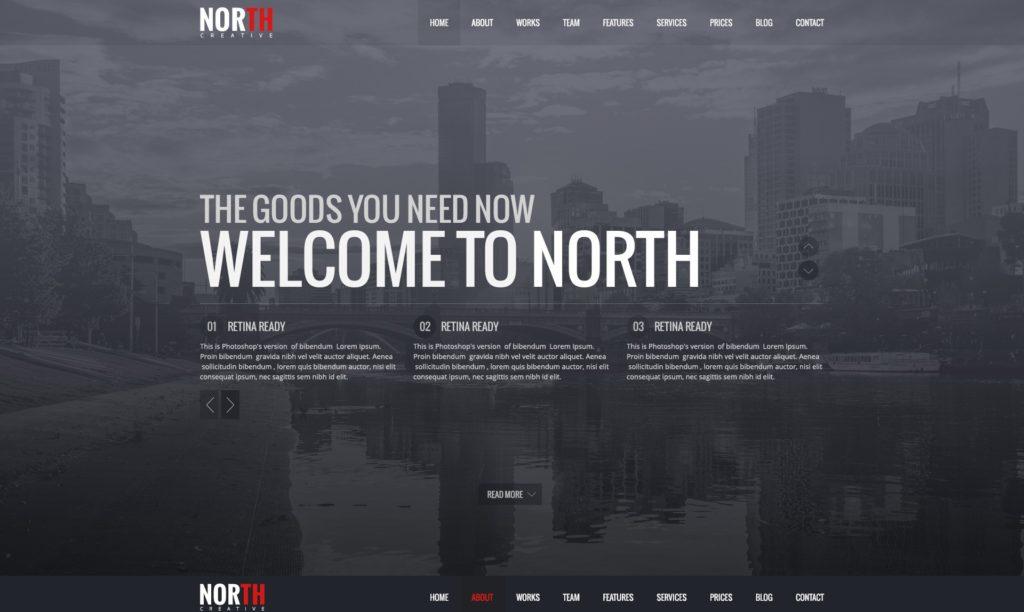 макет одностраничного сайта с призывами к действию 08