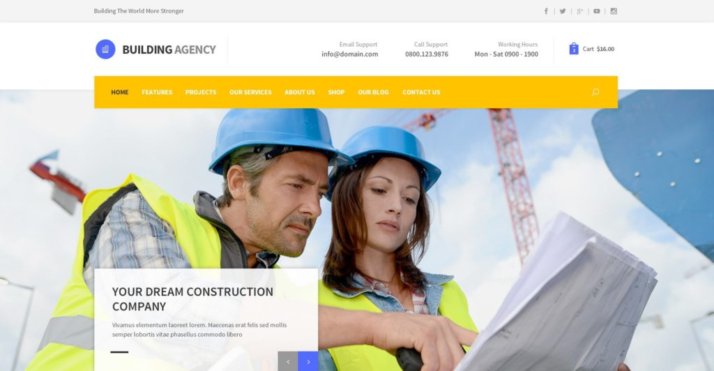 макет строительного сайта для серьезного бизнеса 0