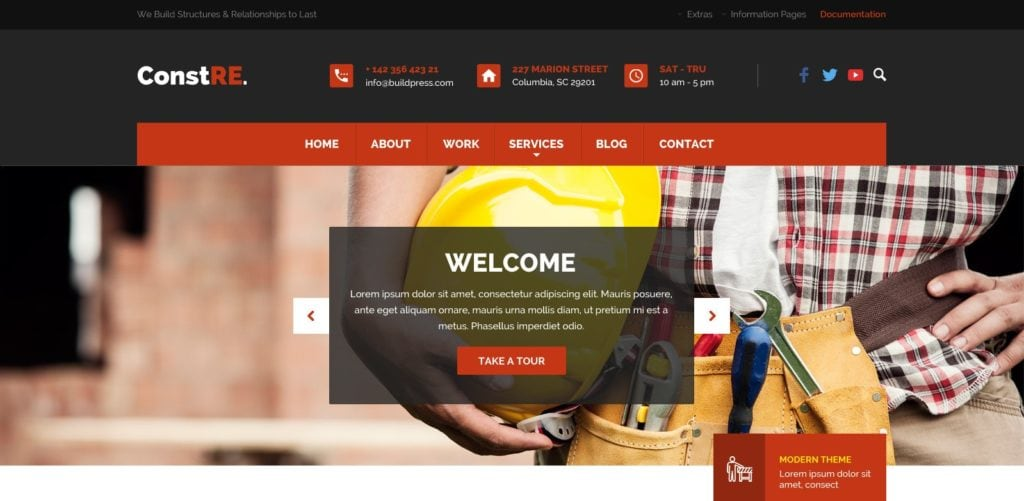 макет строительного сайта для серьезного бизнеса 14