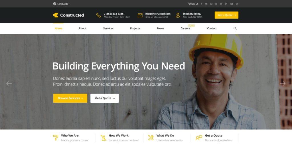 макет строительного сайта для серьезного бизнеса 15