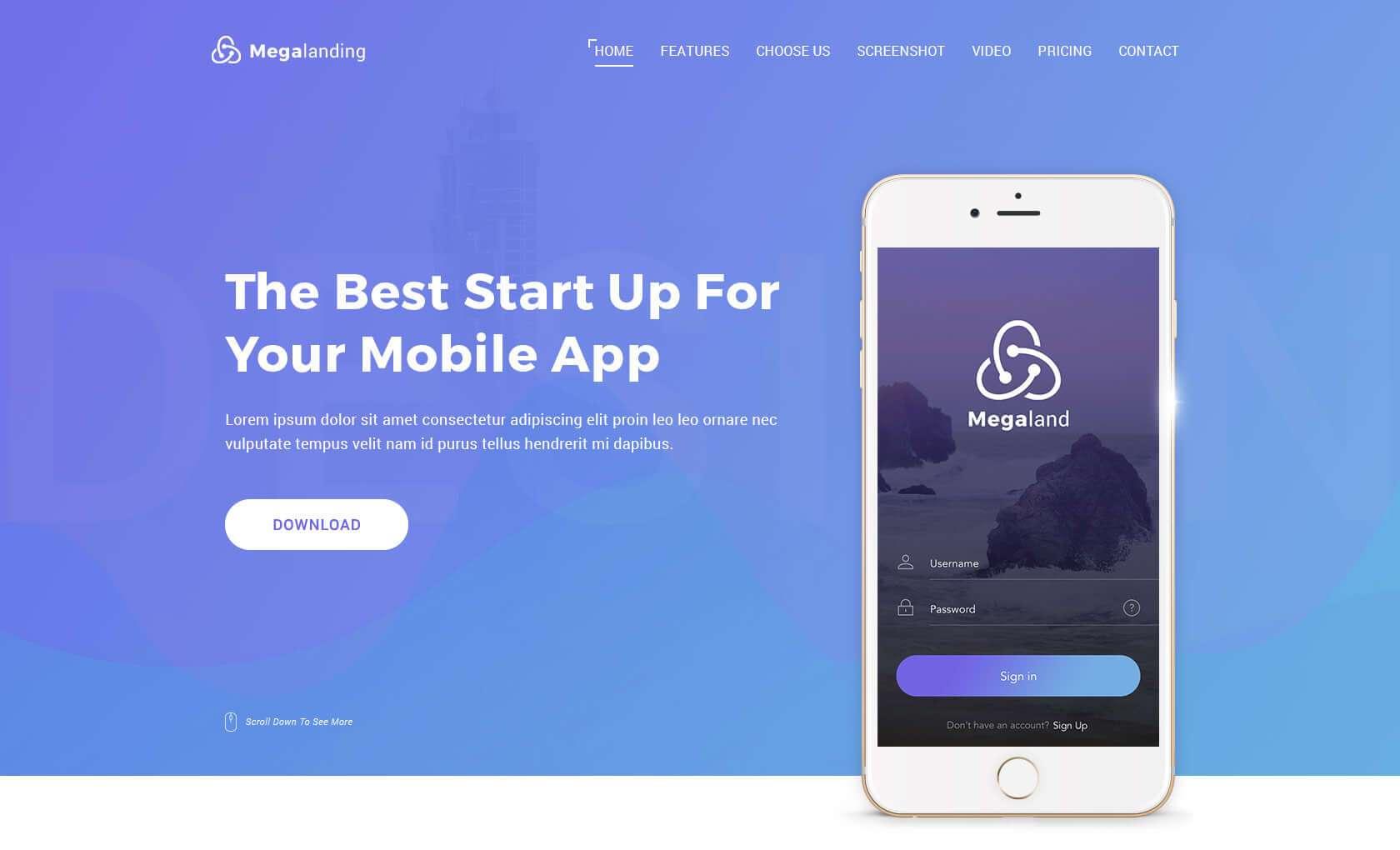 Резиновый макет сайта: готовая концепция мобильного сайта