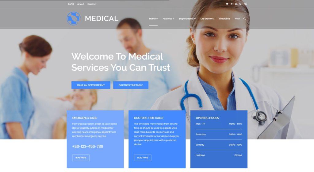 адаптивные шаблоны медицина HTML с онлайн-формой записи 01