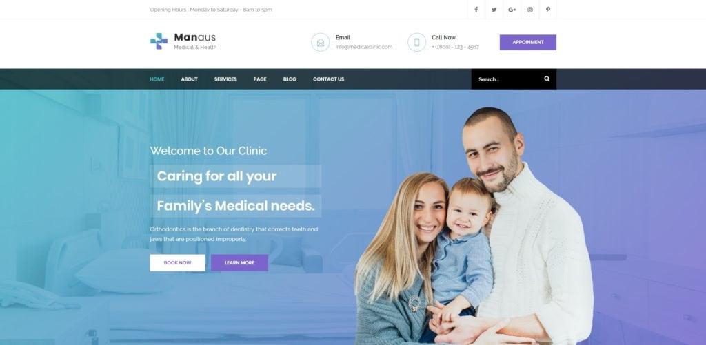 адаптивные шаблоны медицина HTML с онлайн-формой записи 07