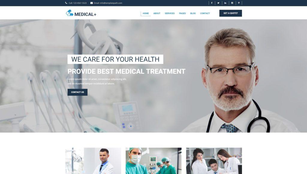адаптивные шаблоны медицина HTML с онлайн-формой записи 09