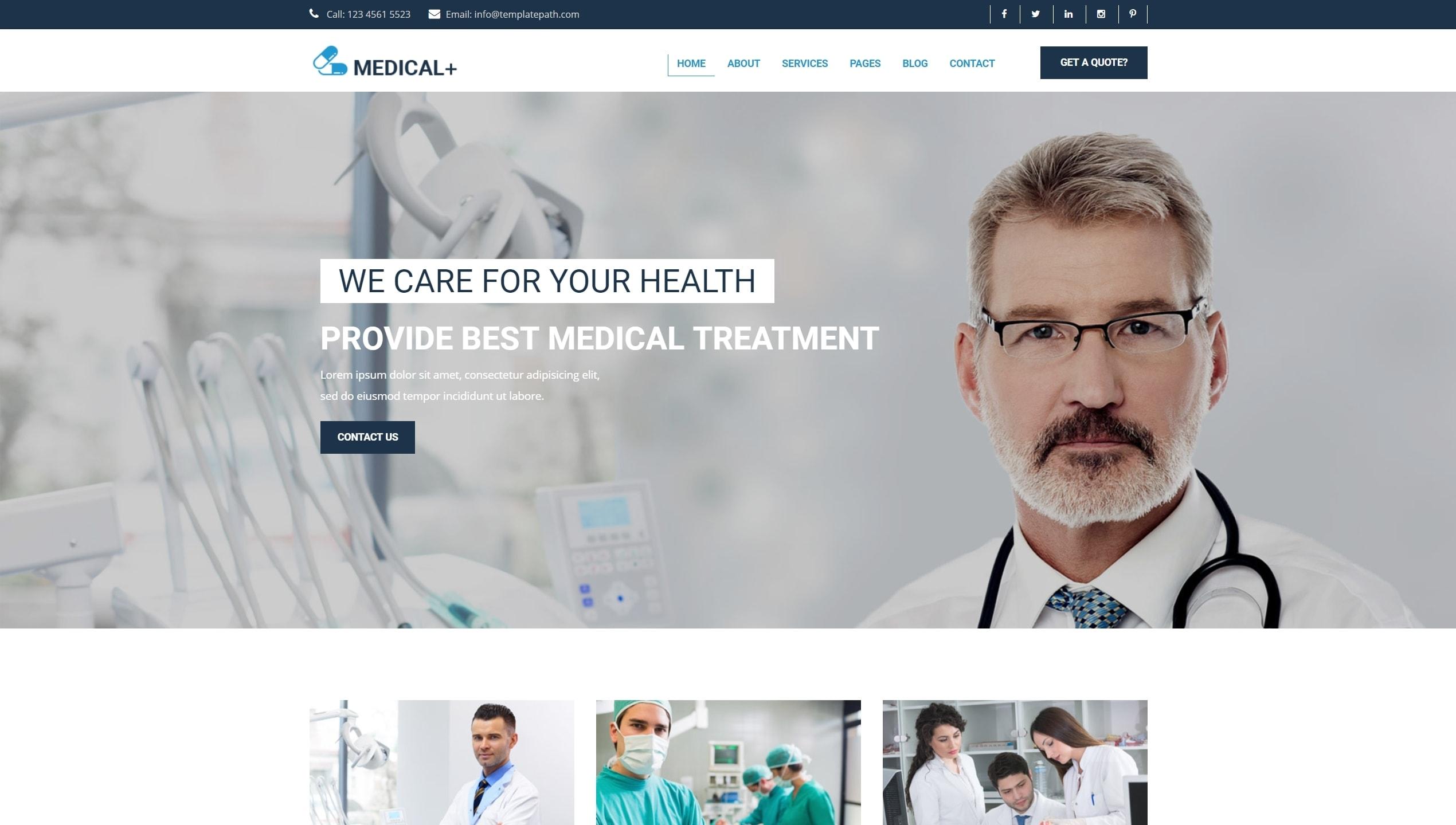 Адаптивные шаблоны медицина HTML с онлайн-формой записи