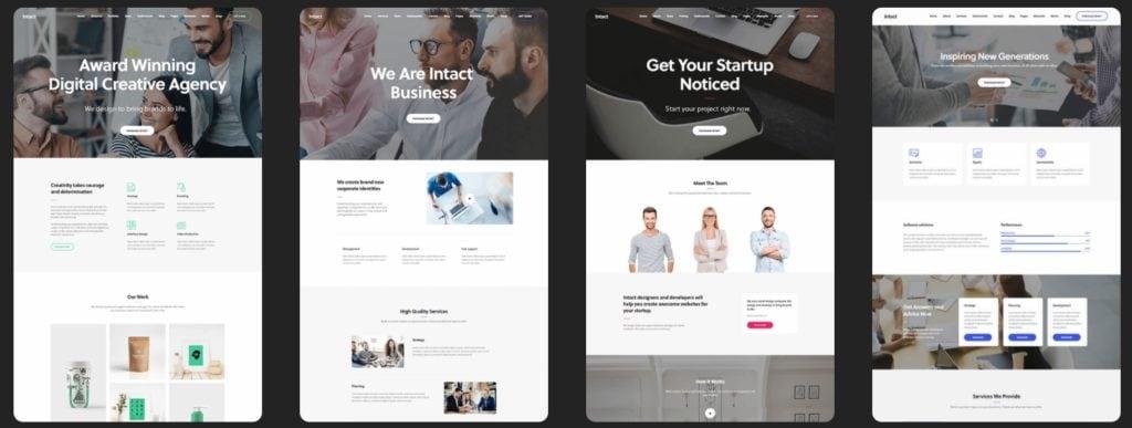 готовые дизайны сайтов для бизнеса, блога и eCommerce 01